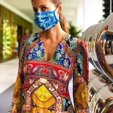 Etro Floral Paisley-Pattern Mask