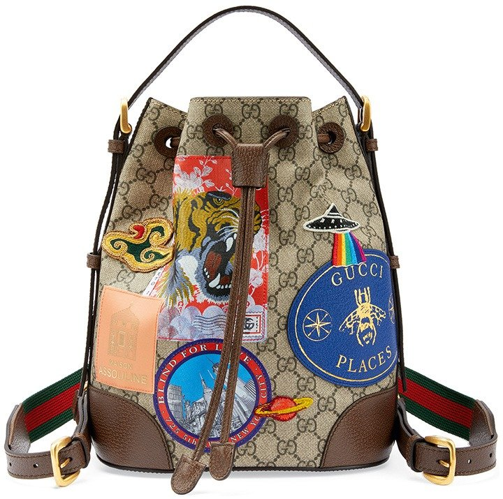 Exclusive: Gucci Places for Maison Assouline featuring the Gucci Courrier backpack.