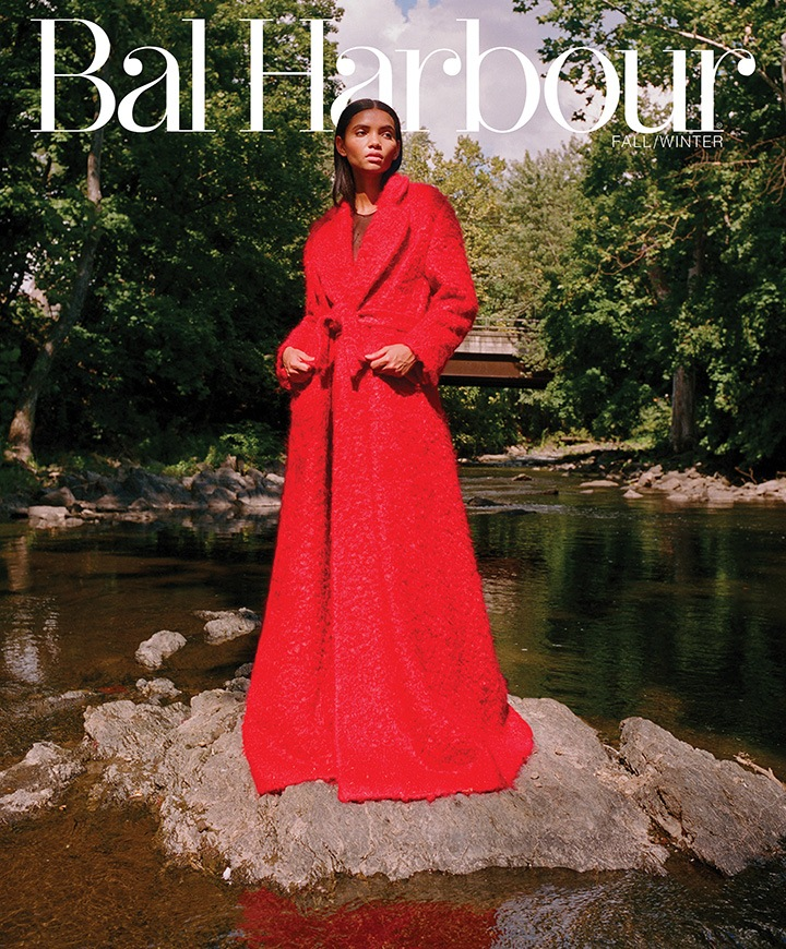 Model Lenny Nunes on the cover of the Fall issue, wearing a Miu Miu coat. Photo by Brad Ogbonna.