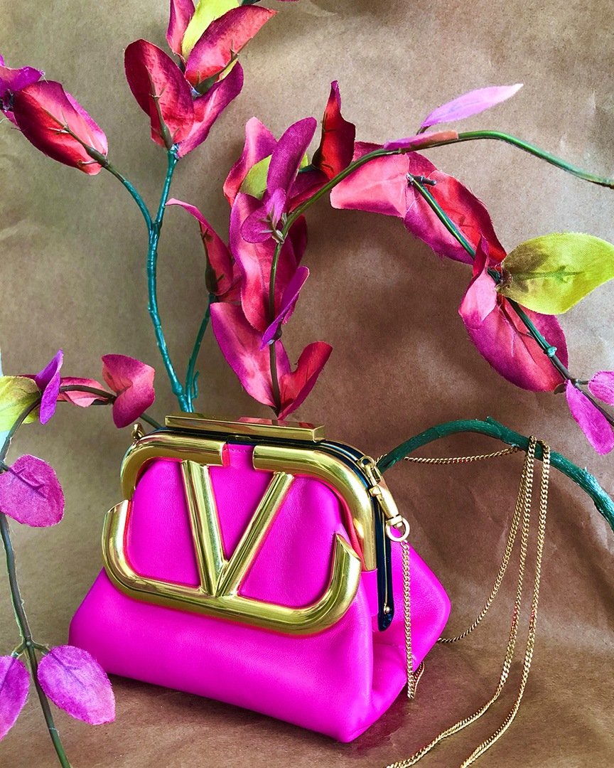Valentino Mini Supervee Nappa Clutch