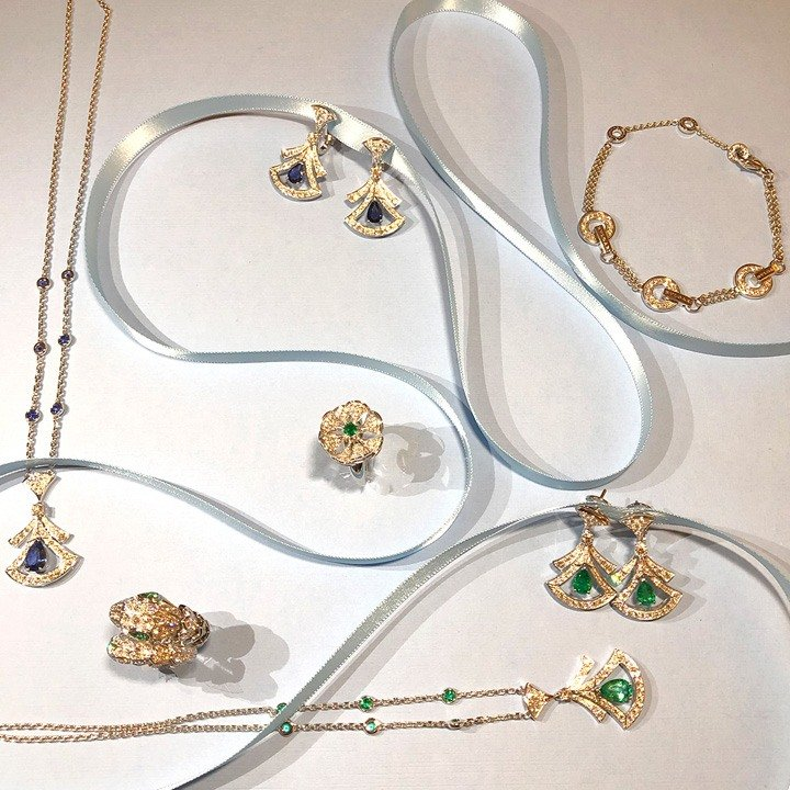 A selection of pieces from Bulgari's High Jewelry and Fine Jewelry collections