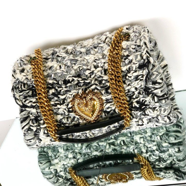 Dolce & Gabbana Large Knit Devotion Shoulder Bag