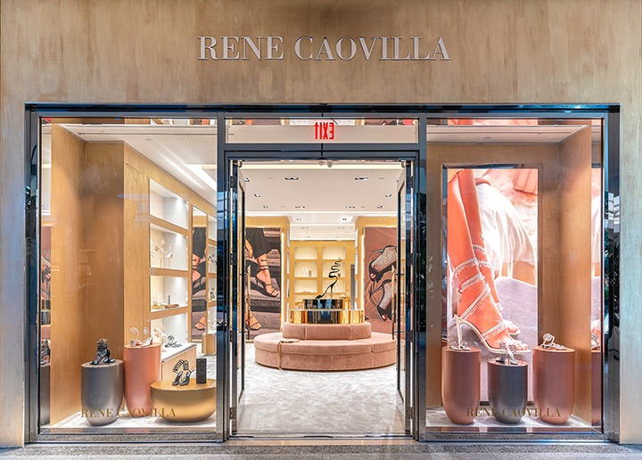 Outside the newly opened René Caovilla Bal Harbour Shops boutique.