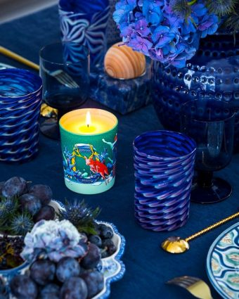 Diptyque Holiday Collection featuring the Moonlit Fir candle.