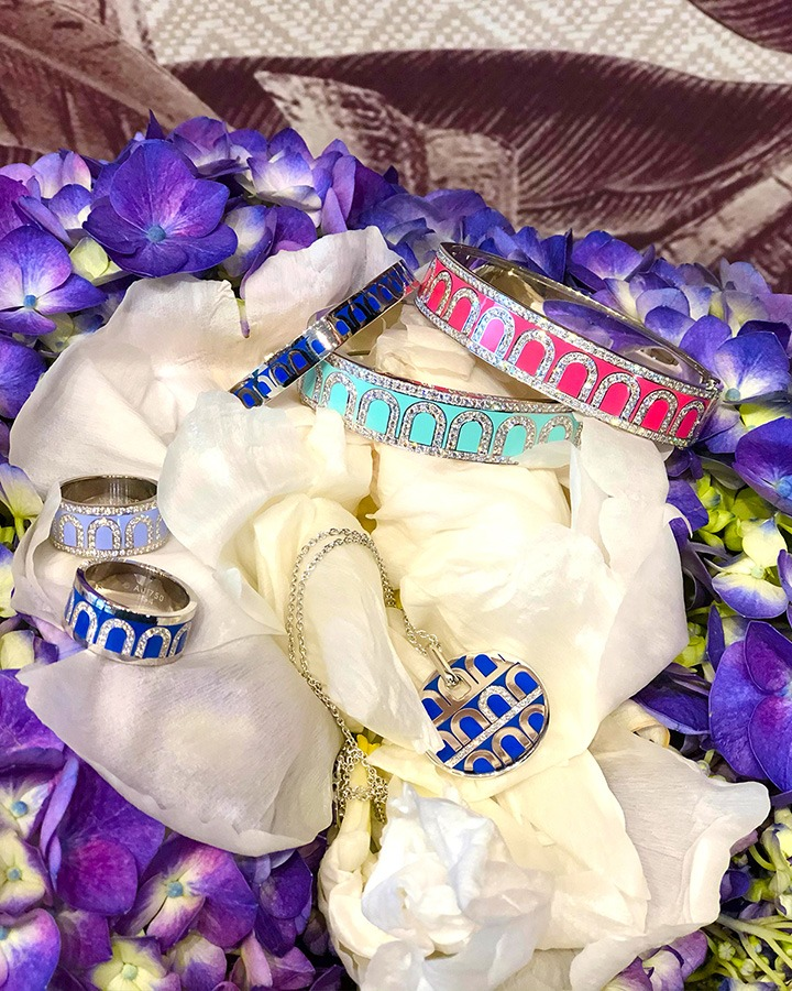 L'Arc de DAVIDOR Ring and Bangels photographed at the newly opened Bal Harbour pop-up on Level 2.
