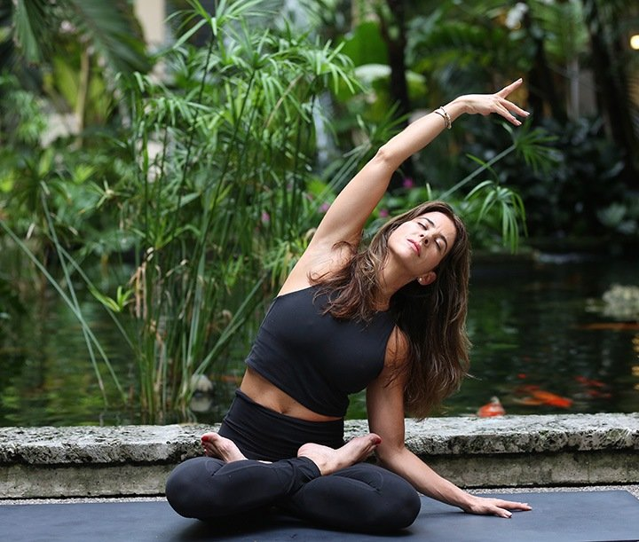 Cohen's classes at Bal Harbour Shops are suitable for all level of practitioners. Photo by Andrea Cespedes.