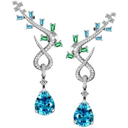 Feuillage High Jewelry Earrings