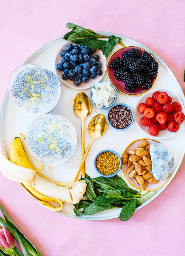 Compile superfood toppers and fresh fruit for a DIY Chia Pudding Bar that the whole family will enjoy.