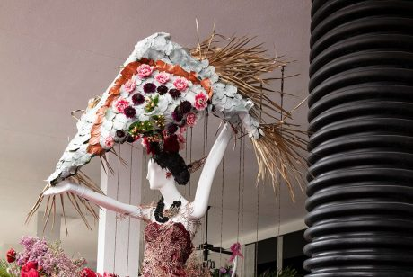 Adrienne Arsht Center Mannequin Created by Simple Florals. Photo by Theodora Richter