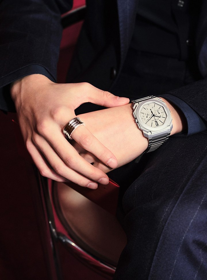 Octo Finissimo Watch and B.zerio 1 Ring from Bulgari's Lunar New Year Gift Collection.