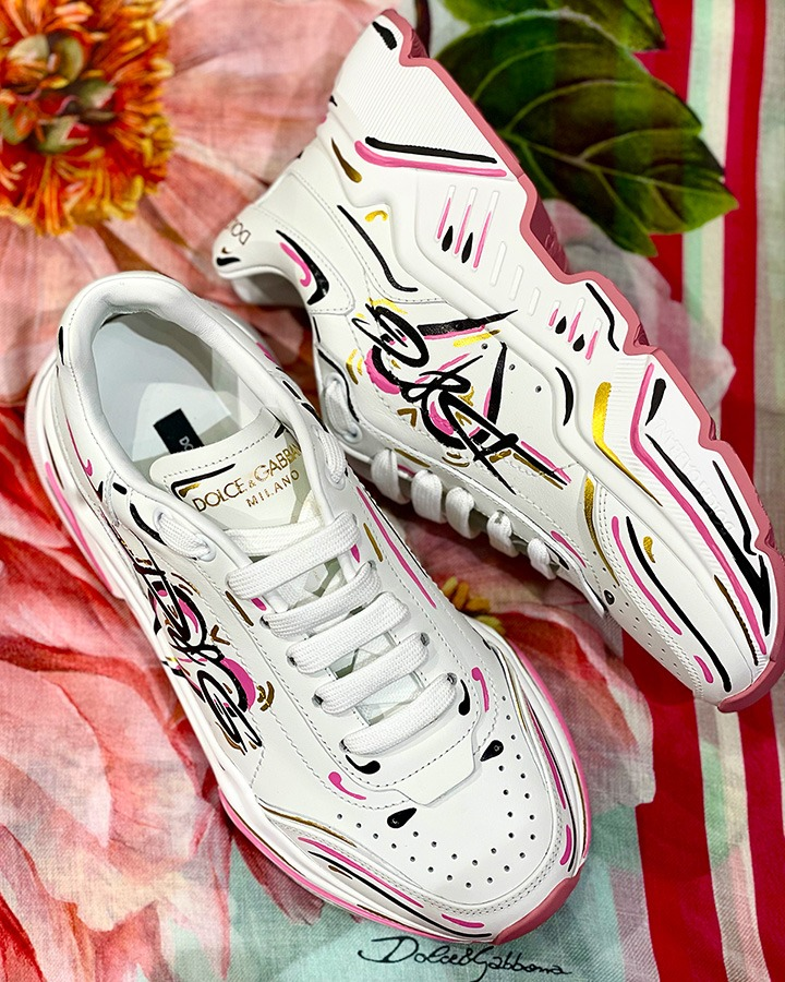 Dolce & Gabbana Hand-Painted Daymaster sneakers available at Dolce & Gabbana Bal Harbour.