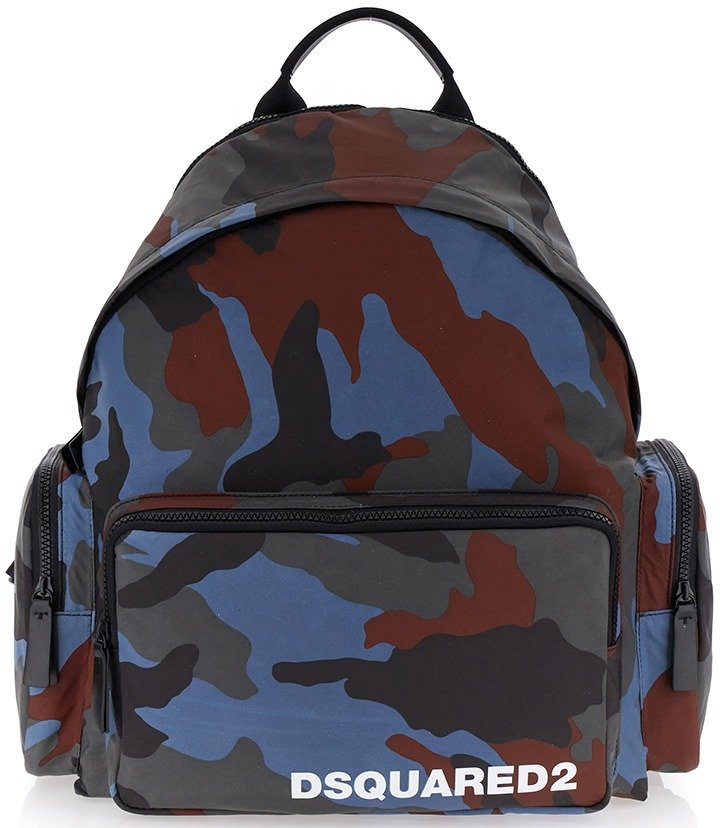 Dsquared2 Camouflage Backpack.