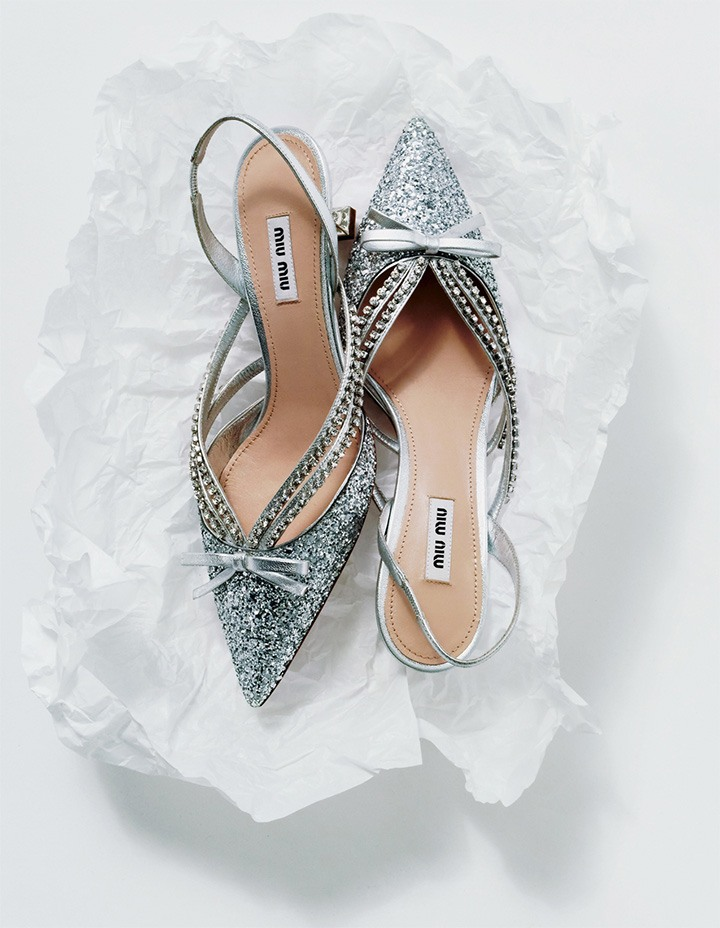 Glitter Slingback Pump from the Always New, Always Miu Miu Collection.