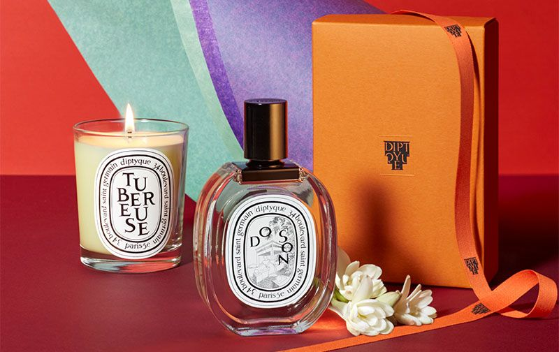 diptyque Tubereuse candle and Doson scent.