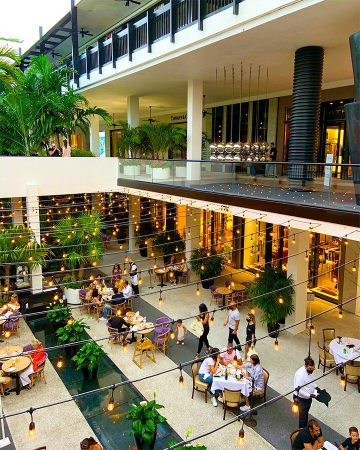 Bal Harbour Shops center courtyard photographed by Carly Klein