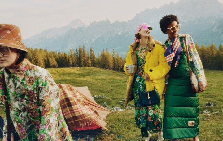 The North Face X Gucci collection incorporates sustainable materials and pays homage to the pursuit of exploration.