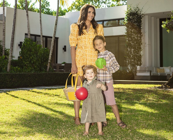 Laure with her children, Marcel (7) and Marguerite (20 months). Photo by Camilo Rios.