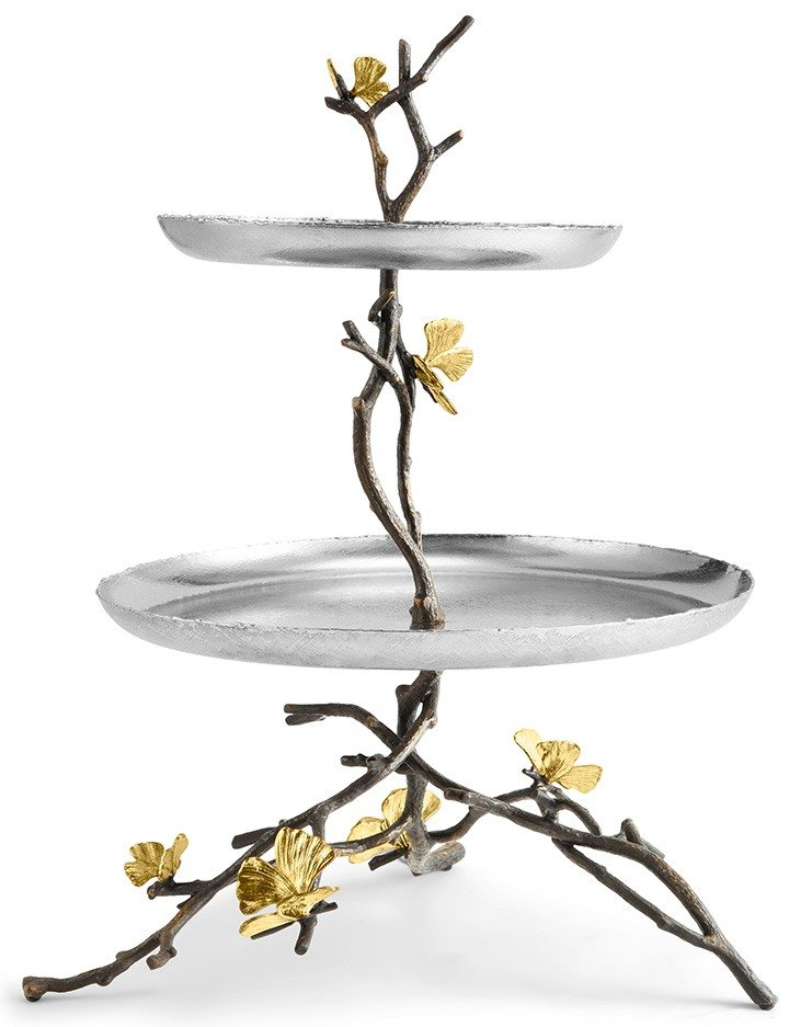 Butterfly Ginkgo serving dish by Michael Aram