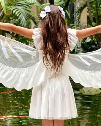 Take flight this summer in Stella McCartney's tulle Butterfly dress.