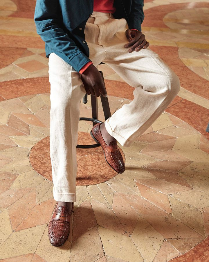 Santoni leather loafers from the Origini SS21 collection