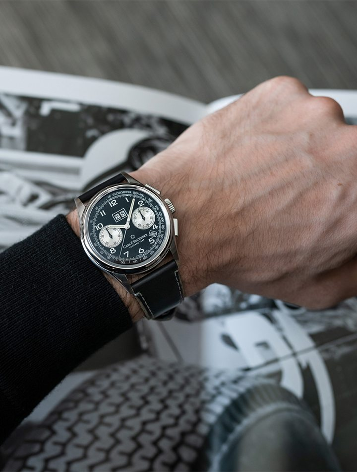 Carl F. Bucherer Heritage Bicompax Annual timepiece, available at Tourneau Bal Harbour Shops