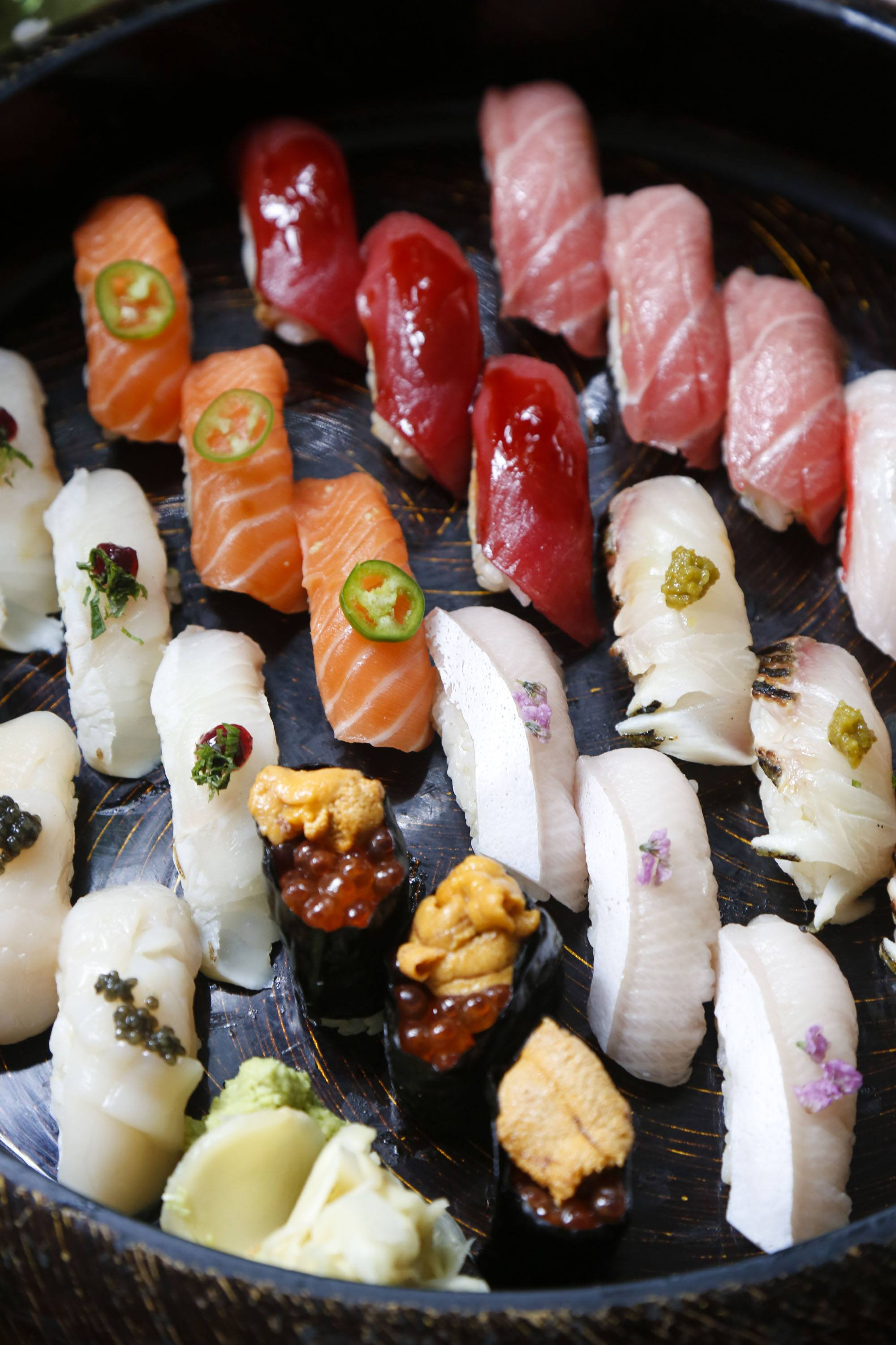 A selection of sushi from Makoto
