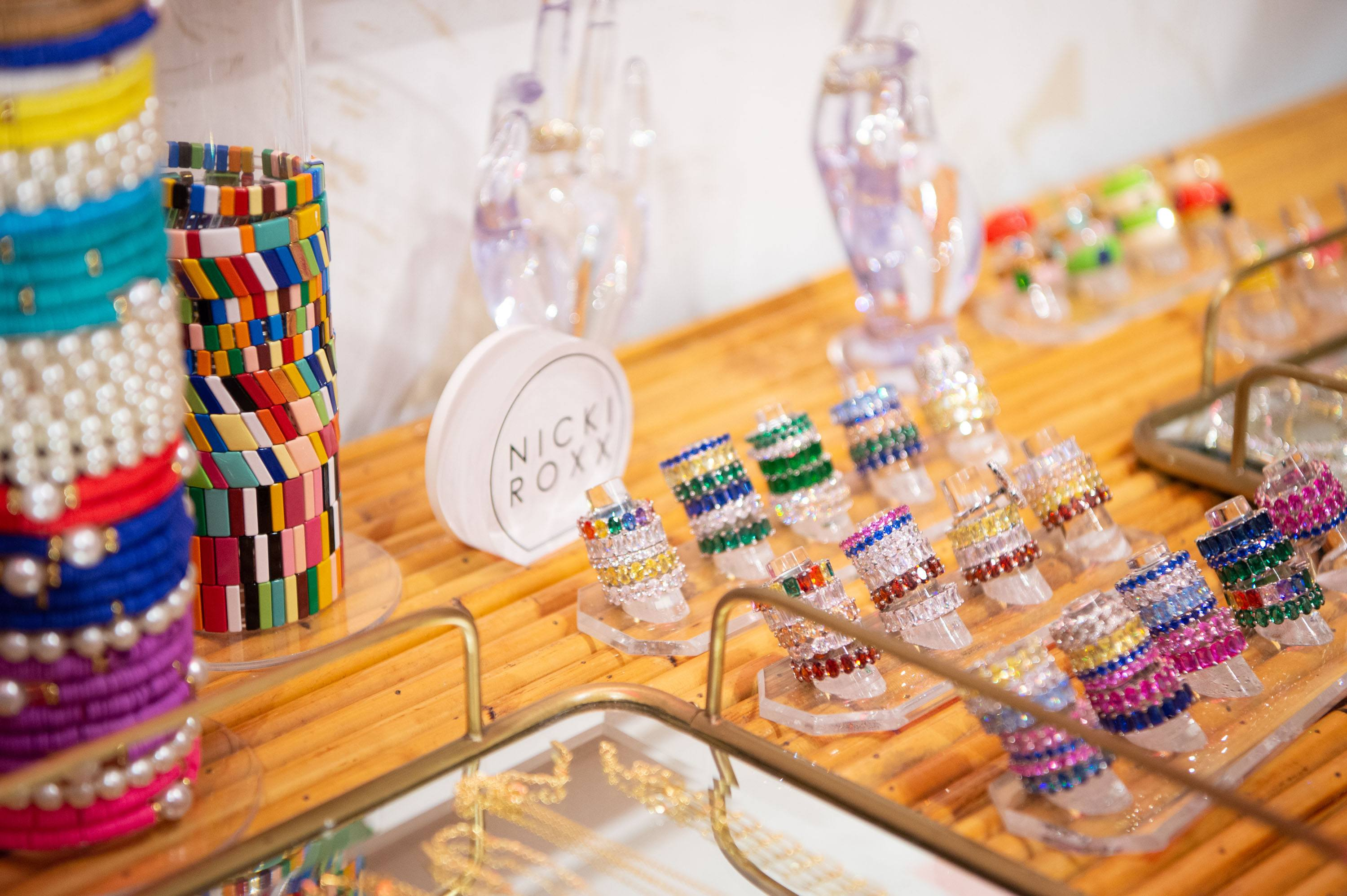 Nicki Roxx assorted jewelry pieces including rings, necklaces and bracelets