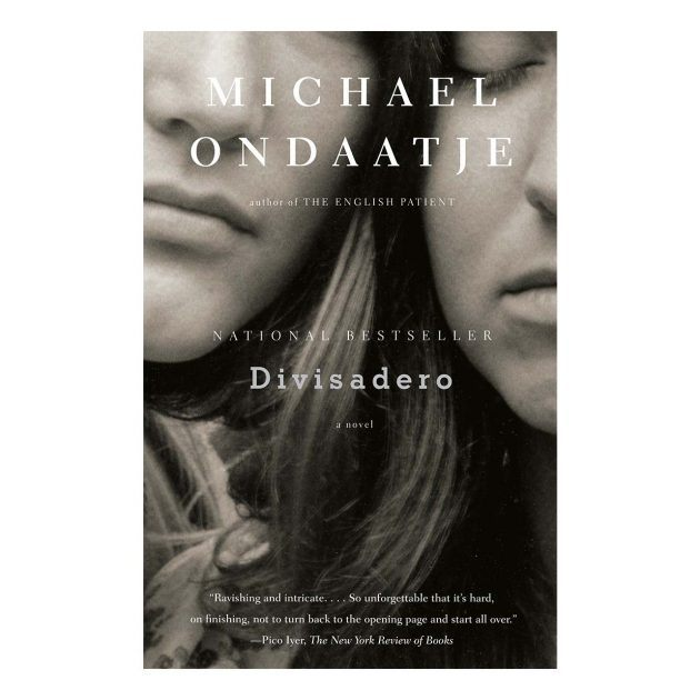 Book cover for Divisadero by Michael Ondaatje, two women are photographed in black and white