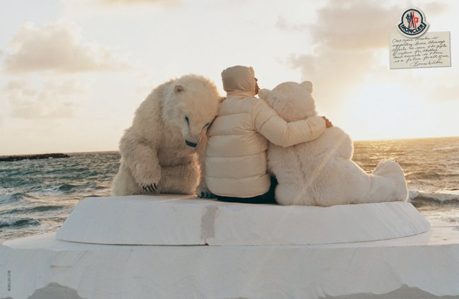 Moncler's latest ad campaign, shot by Bruce Weber.