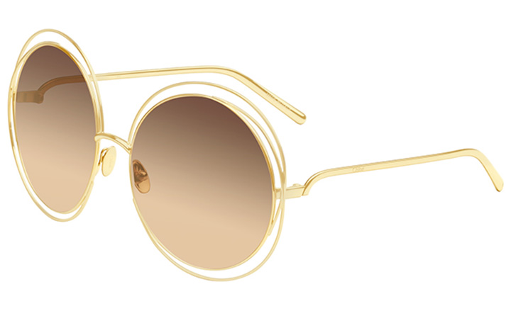 Chloe's 18 karat gold limited edition version of its classic Carlina style shades